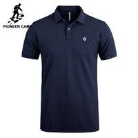 Пионерский лагерь рубашки поло для мужчин брендовая одежда офисные однотонные поло мужской качество 100% хлопок повседневное лето