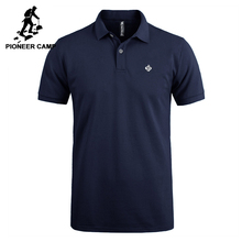Pioneer Camp Polo shirts men brand clothing office solid polos male quality 100% cotton casual summer polo