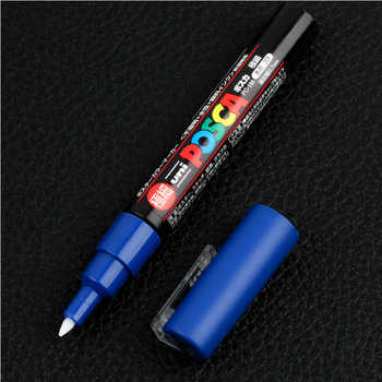 Uni Mitsubishi Posca PC-1M Paint Marker Writing Pen Extra-Fine Tip 0.7mm 8 Colors Set Poster Water-based Advertising Pen