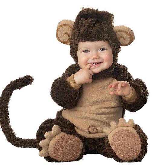 2016 New Arrival High Quality Baby Boys Girlscute monkey Costume Romper Kids Clothing Set Toddler Co