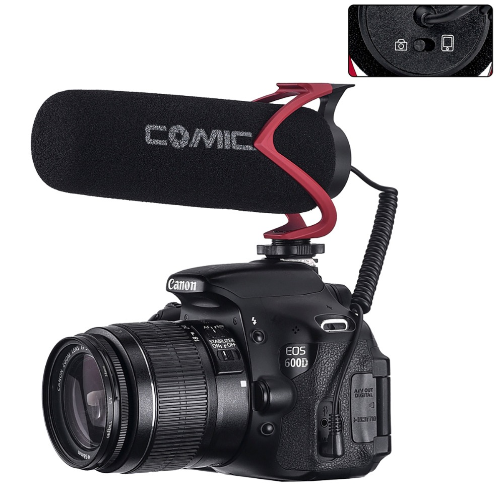 Comica V30 Lite Video Recording Mic On Camera / Phone Microphone for Canon Nikon Sony DSLR DV Camcorder IPhone Samsung