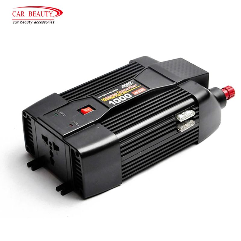 1000W DC 12V AC 220V Car Power Inverter Auto Truck Trailer RV Adapter Charger Outlets Modified Sine Wave Travel Converter