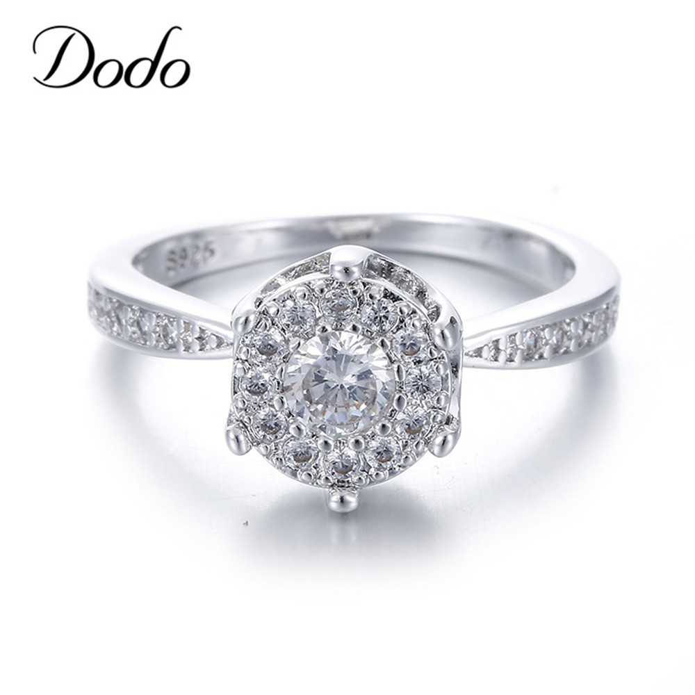 For Women girl lady couple DENER 2017 New Fashion Rose Gold Stackable Ring Wedding Elegant Ring Jewelry Accessories for Engagement