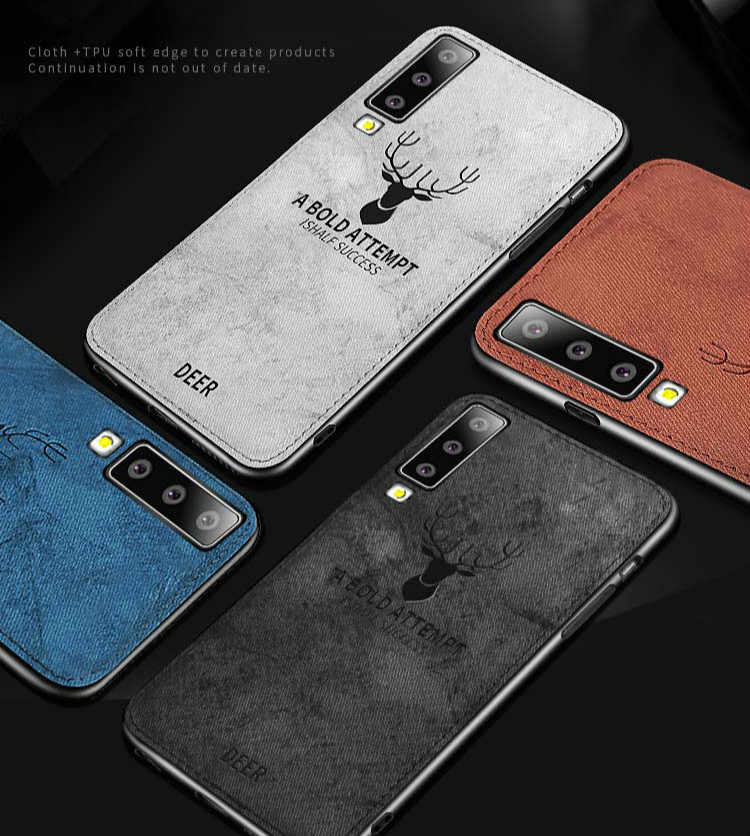 Deer Pattern Cloth Case For Samsung A30 A50 M30 M20 A9 A7 2018 Soft Back Case For Galaxy S10E S10 S9 S8 A6 A8 Plus J4 J6 Covers