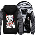 Suicide Squad Харли Квинн Джокер Косплей толстовки мужское Пальто Балахон Зима Флис Утолщаются Куртка Кофты Плюс Размер