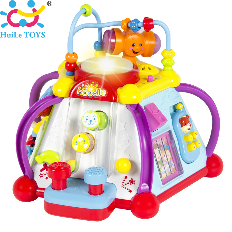 Baby Toys Happy Small World Puzzle Brinquedos para Bebe Early Development Toys Multifunctional Game Toys for Children Xmas Gifts baby toys early developmental plaything brinquedos bebe eletronicos action animis free shipping 366c