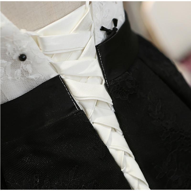 SOCCI Robe de Soiree Svart Lace Long Evening Dresses 2017 V Neck - Särskilda tillfällen klänningar - Foto 6