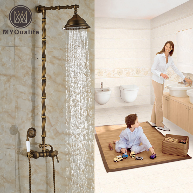 careative design single handle shower set wall mounted