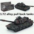 1: 72 tanques de aleación tire hacia atrás, alta simulación 532 modelo de tanque, fundición de metales, tanque de juguete, musical & flashing, envío gratis
