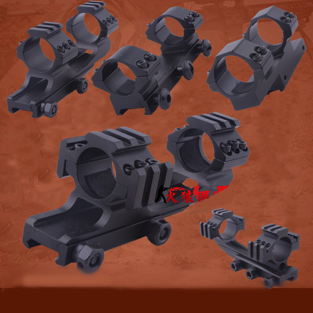 Multi functional rifle scope mount 11/20MM metal rail pipe clamp for gun accessories