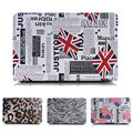 Leopard/zebra-stripe Flag PU Leather Case For Macbook Air 11 13 Pro 13 15 Retina New PC Hard Bottom case For Macbook 12 inch