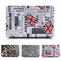 Leopard/zebra-stripe Flag PU Leather Case For Macbook Air 11 13 Pro 13 15 Retina New PC Hard Bottom case For Macbook 12 inch