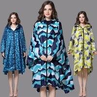 Raincoat Women Trench Coat Style Hooded men rain coat Women Outdoor Long Rain Poncho Waterproof Rain Coat 3 Colors Rainwear