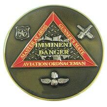 3D Antique Military Souvenir Challenge Coin with Transparent Enamel