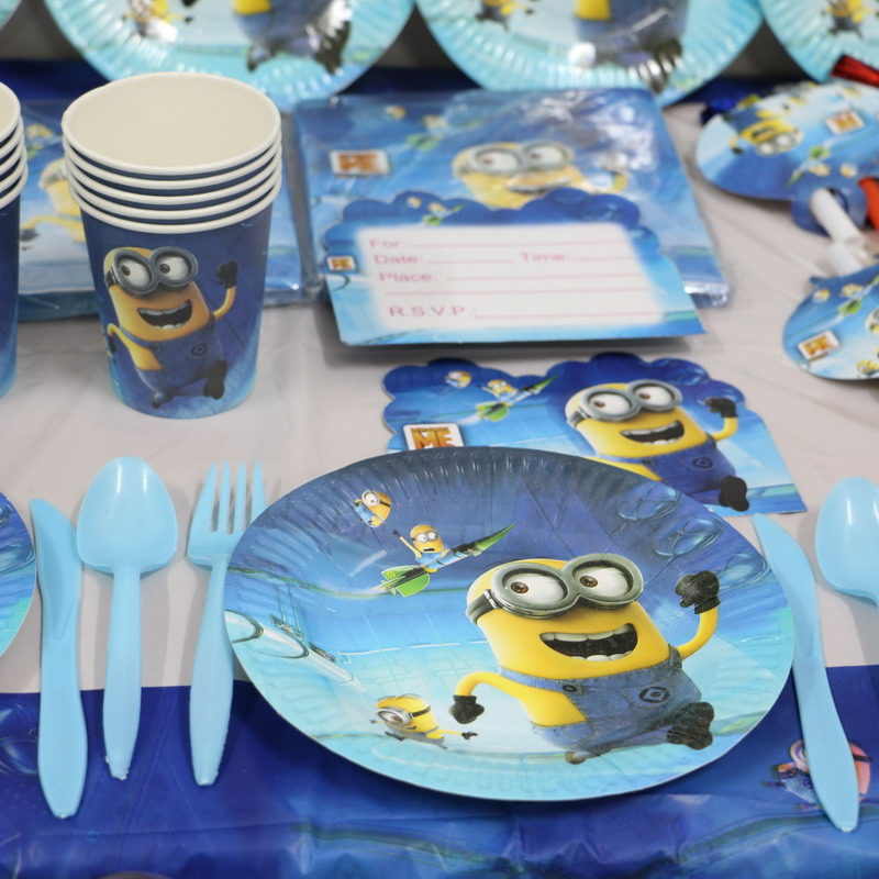 105pcs For 6 People Minions Theme Party Luxury Kids Birthday Decoration  Plates Cups Straws Napkins Party Supplies On Aliexpress.com | Alibaba Group