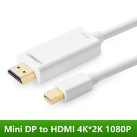 Mini DP To HDMI Cable 4K 2K 1080P DP For Computer To HDTV Projector Monitor Audio
