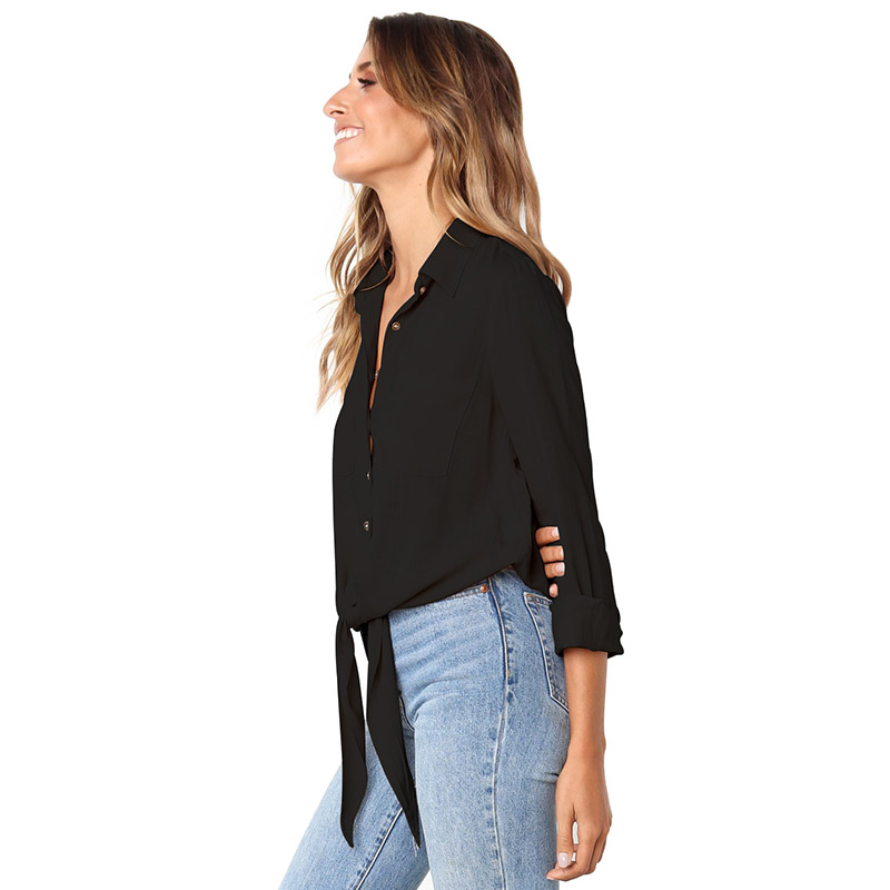 Black-Crushed-Linen-Button-Down-Casual-Shirt-LC251116-2-2