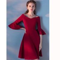 2017 Gratis verzending Rode Party Homecoming Prom Gown Formele korte avondjurken vestidos de festa robe de soiree cocktail TK515