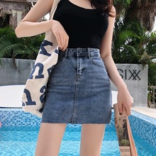 Denim Skirts 2019 Summer New Women Pencil Skirt Pocket Demin Street Wear Casual Mini