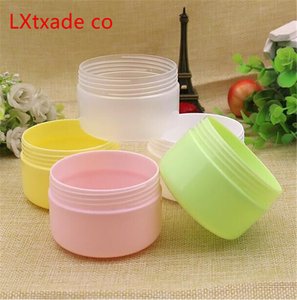 Image 4 - 50 PCS Free Shipping 10 20 100 ML Plastic Empty Bottles Jars Inner Cap Cosmetic Cream Eye Gel Butter Packaging Containers