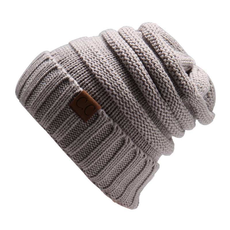14 colors Women winter beanies knitted cc Cap Solid Color hip hop winter hat woman ladies Skullies Beanie oversized mujer