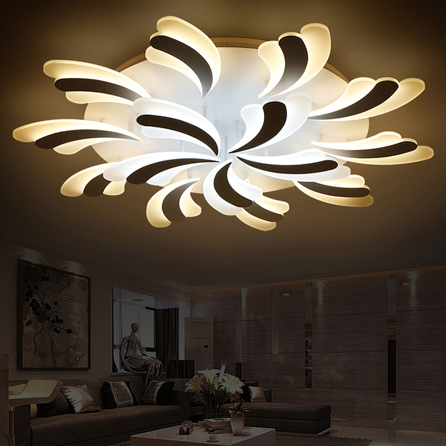 New Flower LED Ceiling Lights For Bedroom Home Ceiling Lamp Acrylic ...