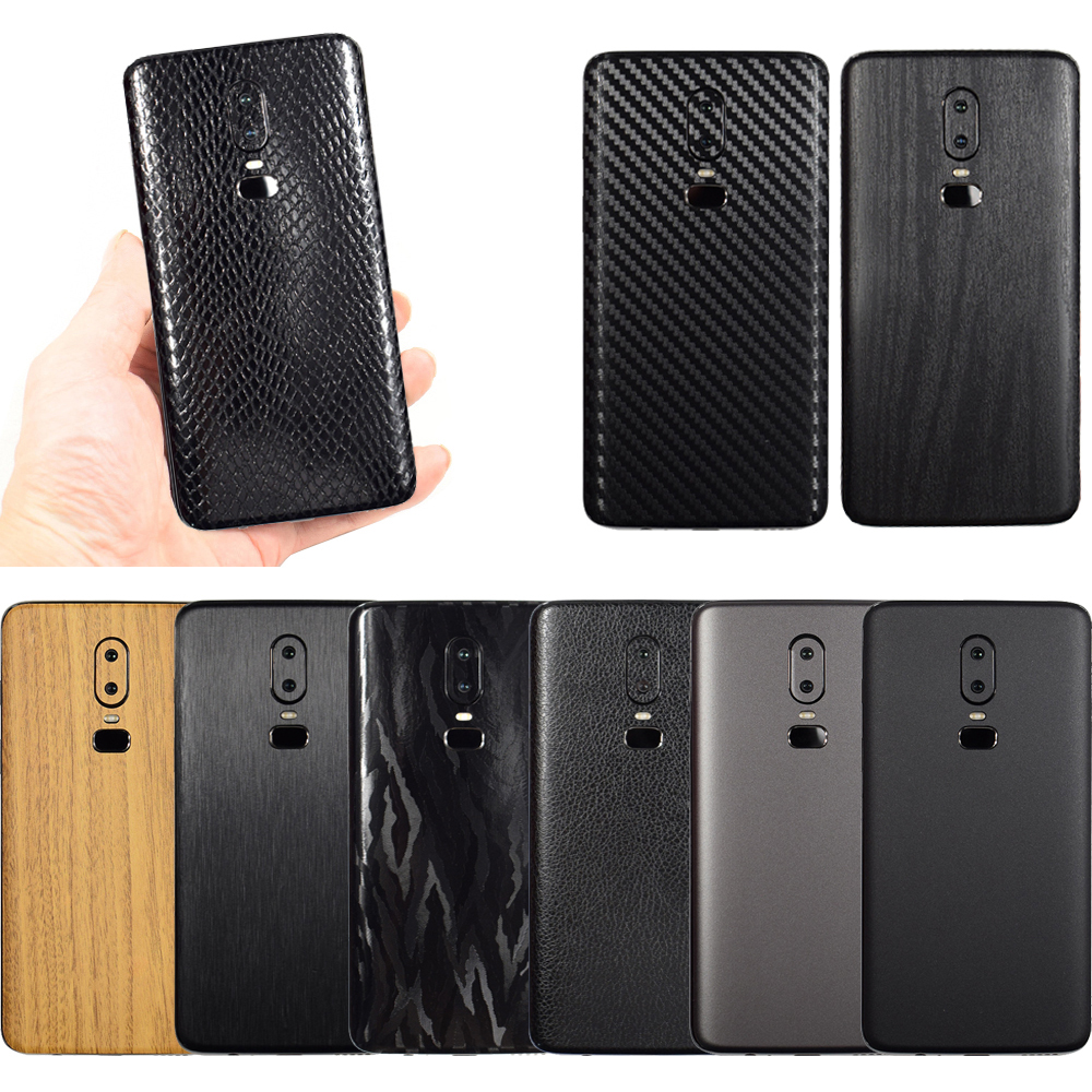3D Carbon Fiber Sticker For OnePlus 7 Pro <font><b>Leather</b></font> Wood Drawing Skins Phone Back <font><b>Cover</b></font> Sticker For <font><b>One</b></font> <font><b>Plus</b></font> 7 1+<font><b>6T</b></font> 1+<font><b>6T</b></font> Sticker image