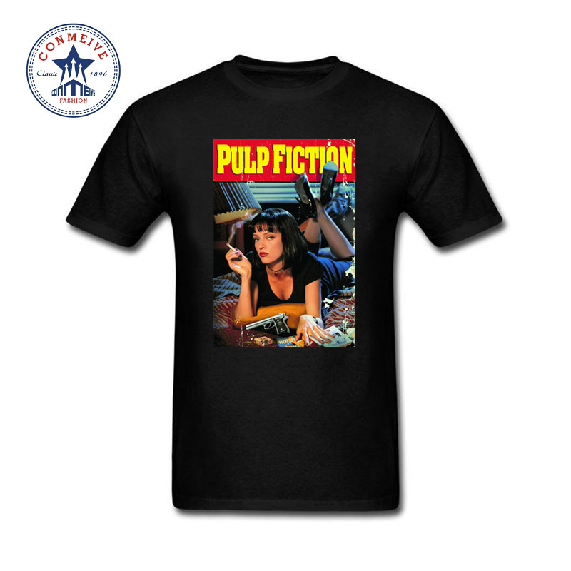 2017 New Fashion Funny Quentin movie Pulp Fiction Cotton T Shirt for men ...