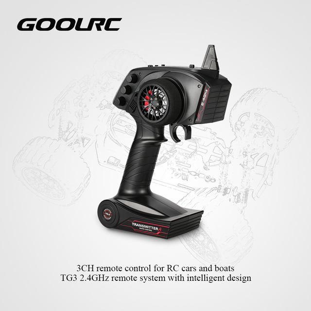 RC Transmitter for RC Car Boat Original GoolRC Receiver with Digital TG3 2.4GHz 3CH Car Accessories Remote Control with Receiver
