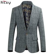 HCXY Blazer Männer 2017 gitter Männlichen Blazer Casual hohe qualität anzug Jacke Homens Blazer Herren Business Marke Mantel größe 4XL