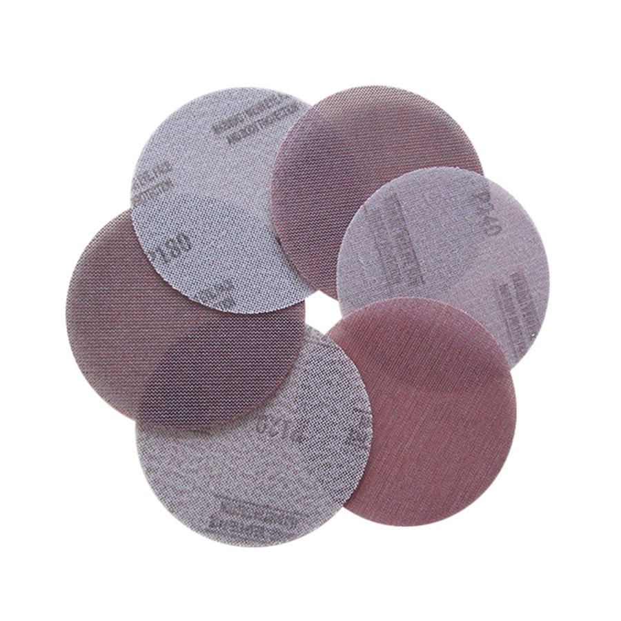 2-20Pcs Mesh Cloth Abrasive Disc Dust Free Sanding Discs 6 Inch 150mm Anti-blocking Dry Grinding Sandpaper 80 To 1000 Grit