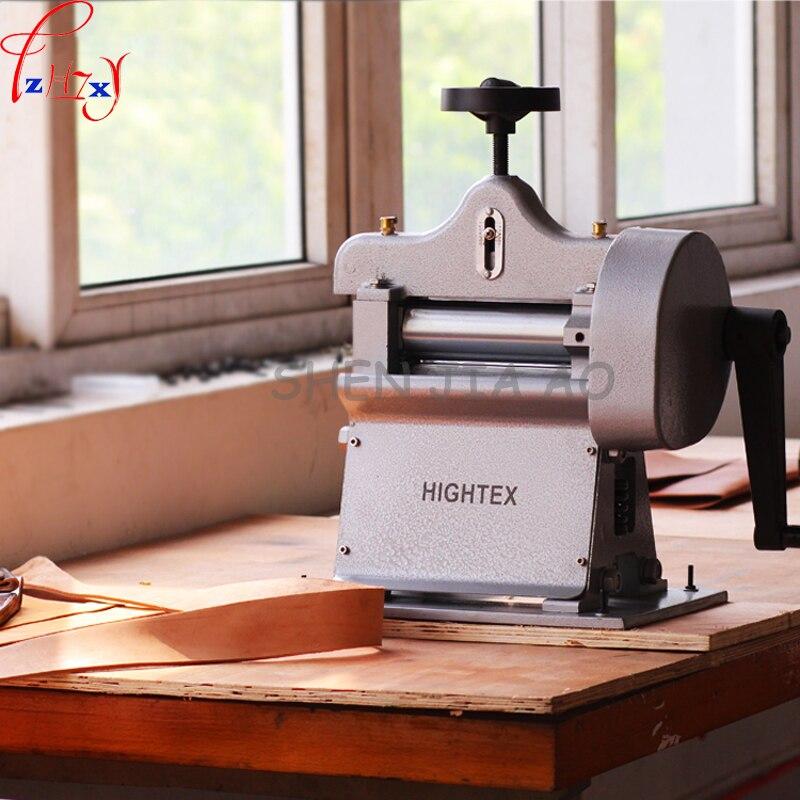 Кожаный ремень машины для обжима лопатой кожи машины ручной завод дубления кожи сплиттер толстой кожи истончение машина 1 шт.