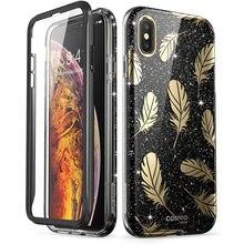 Funda para iPhone Xs Max i blason Cosmo Series brillo ostentoso brillante funda de protección con Protector de pantalla integrado