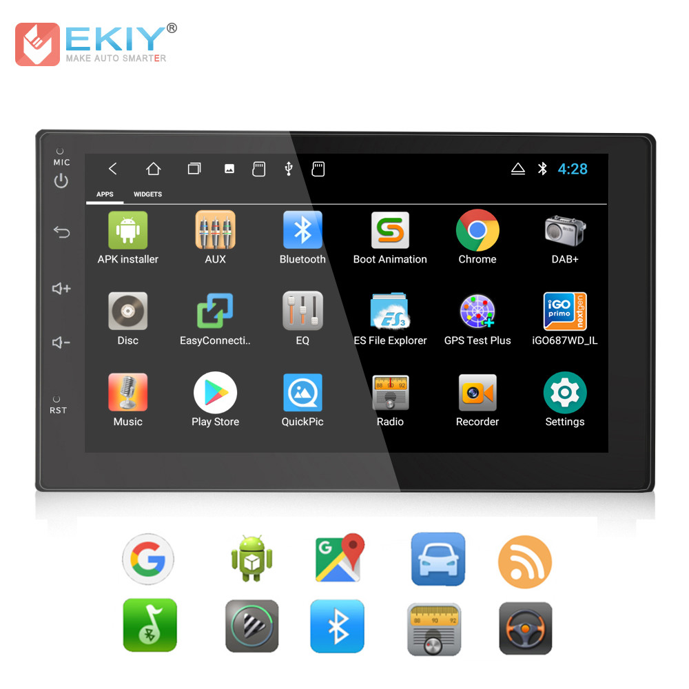 EKIY 7'' Android 8.1 Car Multimedia Player Auto Radio Audio For Nissan For Toyota For Ford For All Cars GPS Navigation Bluetooth