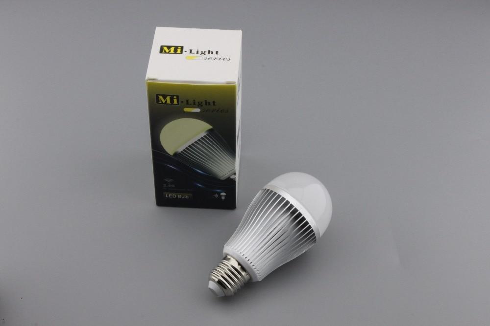 Led lamp e27 85 265 V 2.4G 9 W led gloeilamp led Smart Gloeilamp + Dimbare Afstandsbediening + WIFI controller doos voor woonkamer - 4