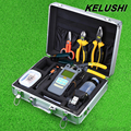 KELUSHI 25pcs/set Fiber Optic FTTH Tool Kit with HS-30 Cleaver and 10mW Visual Fault Locator with power meter stripping tool
