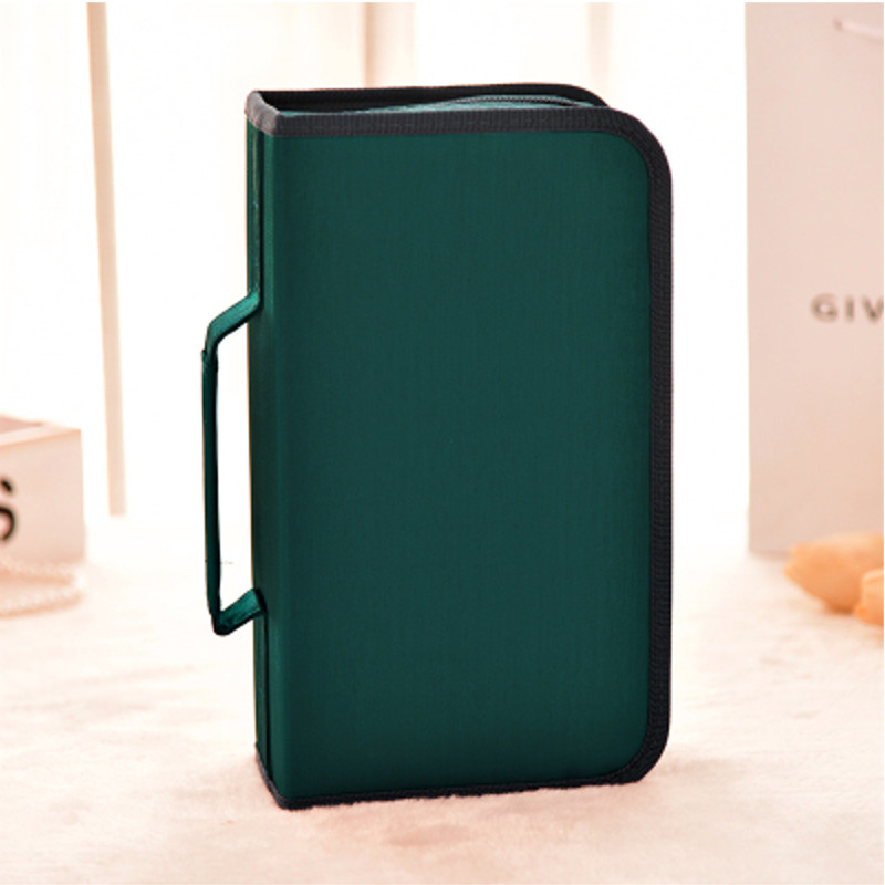 LEORY 128 Slots CD DVD Disc Bag Organizer Disk Card Holder Wallet Sheet Case Stowing Tidying Carry Pouch Universal 1pcs 40 disc cd dvd case storage holder carry case organizer sleeve wallet cover bag box cd dvd holder dj storage cover
