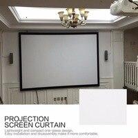 4:3 tela de projeção cortina 40/50/60/72/84/92/100/106 Polegada tela não tecida branco macio portátil para sala de conferências ktv ba