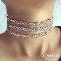 Popular AAA circonita Baguette gargantilla collar para Las Mujeres de longitud ajustable de moda geométrica gargantillas collares N608162