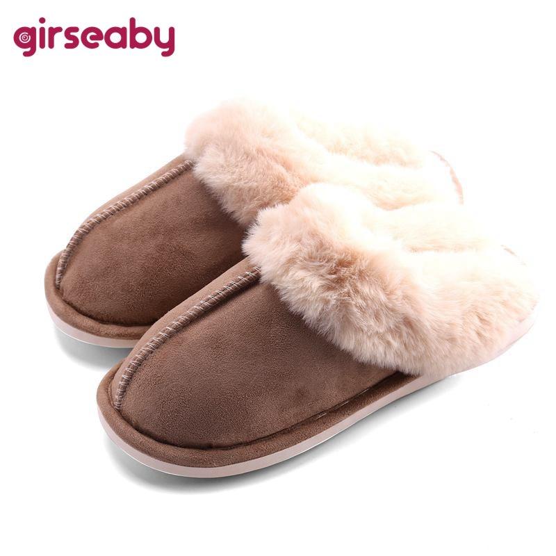 Girseaby Women S Men S Comfort Memory Foam Slippers Fuzzy Wool