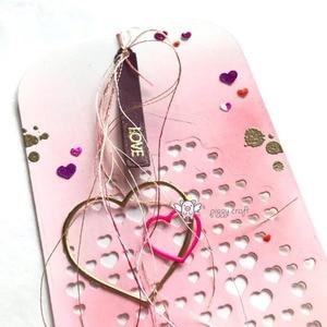 Image 5 - Piggy Craft metal cutting dies cut die mold Love heart background Scrapbook paper craft knife mould blade punch stencils dies