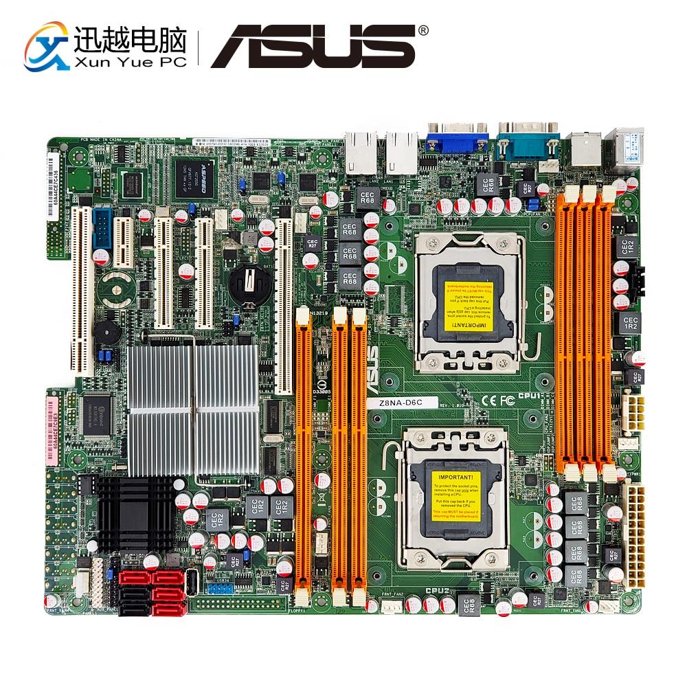 Asus Z8NA D6C Server/Desktop Motherboard 5500 Socket LGA 1366 Xeon i7 DDR3 64G SATA2 Support Raid 0 1 10 5 USB2.0 VGA ATX