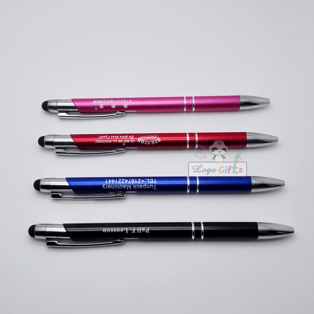 Make your logo free on touch pens for wedding favors anniversary party gifts personalized with your wish words and text in Banner Pens from Office School Supplies