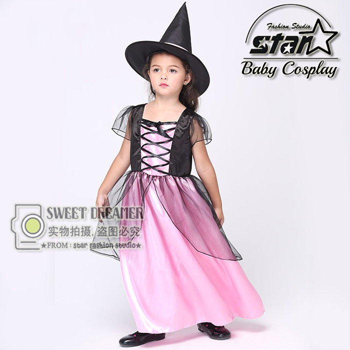 New Arrival Witch Costume Fancy Children Halloween Costume Girls Cosplay Fancy Gauze Dresses Carnival Masquerade Kids Clothes ...