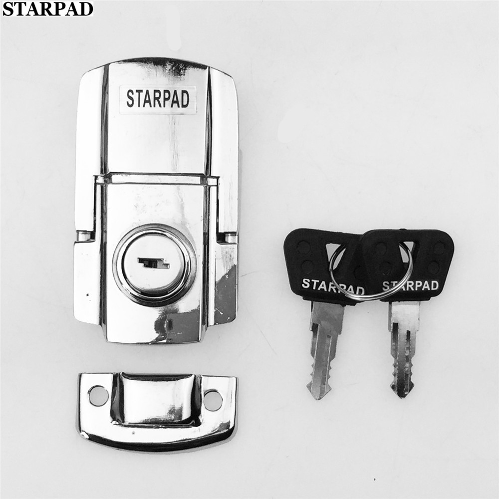STARPAD For Motorcycle Trunk Lock White Electric Car Lock Motorcycle Car Trunk Key Lock Cover Tricycle ATV Refit Lock Accessorie