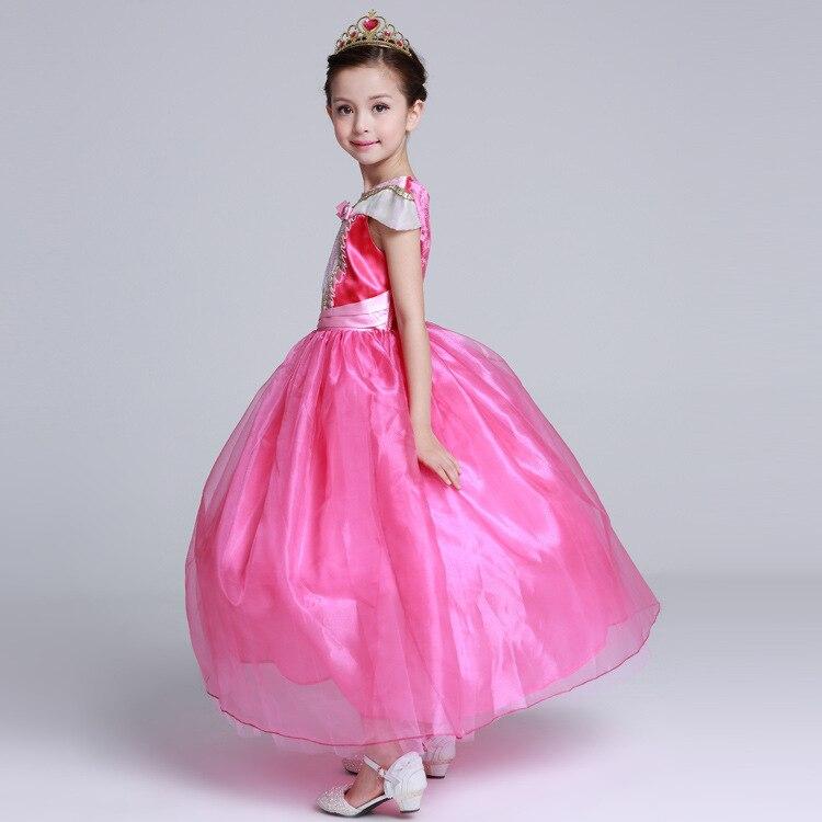 langes Mädchenkleidprinzessin-Schlafschönheit formales Kleid - Kinderkleidung - Foto 5