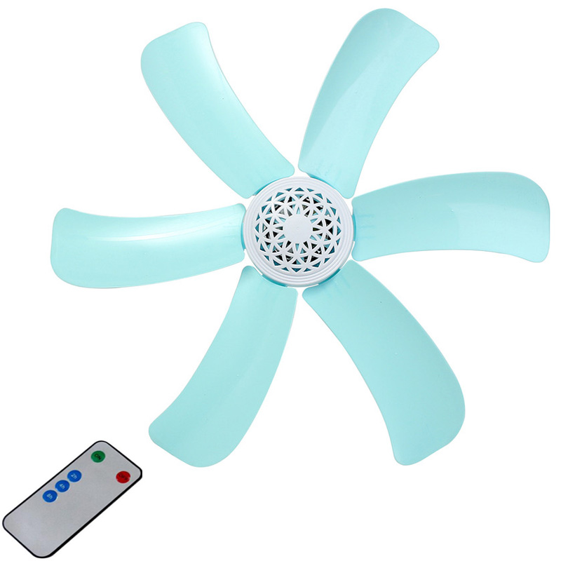 Blue 7w Silent Plastic Energy Saving Mini Ceiling Fan 3-5 Turn Page Fan 220V Hanging Fan Soft Wind Household