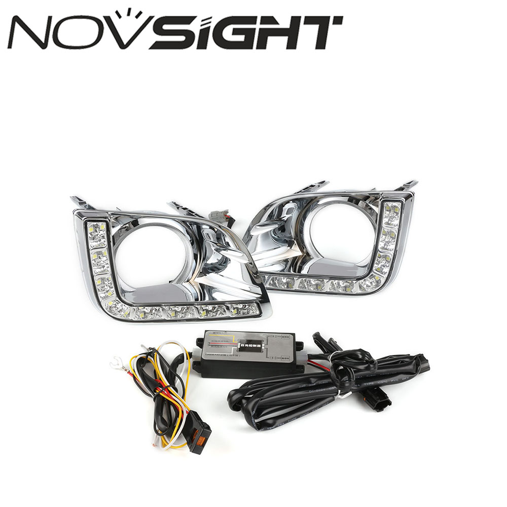 Auto Car LED Lights DRL Driving Daytime Running Light White Daylight For Toyota Prado 2010-2014 Free Shipping new auto car led light drl driving daytime running lights white yellow daylight for honda odyssey 2012 2014 free shipping d35