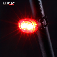 GACIRON Cycling Bicycle Taillight Safety Warning Light Waterproof USB Recharge Automated Flash Rear Tube Lamp Bike