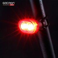 GACIRON Cycling Bicycle Taillight Safety Warning Light Waterproof USB Recharge Automated Flash Rear Tube Lamp Bike